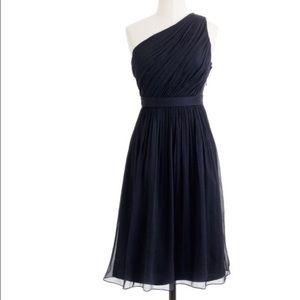 J crew Kylie $228 silk chiffon dress bridesmaid
